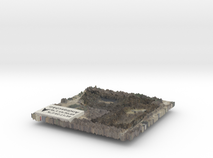 Property Boundary Map - Detailed Features 3d printed