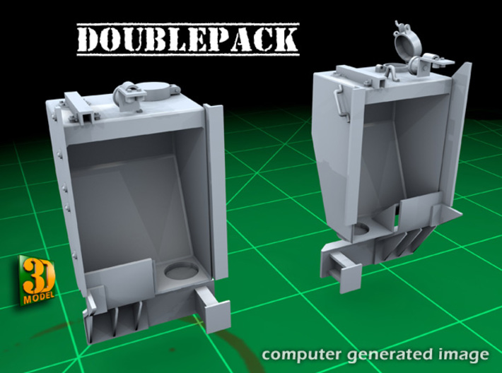 IDF M2 External Fueltanks (1:35) (2x) 3d printed IDF M2 external fueltanks - hollow design to reduce cost