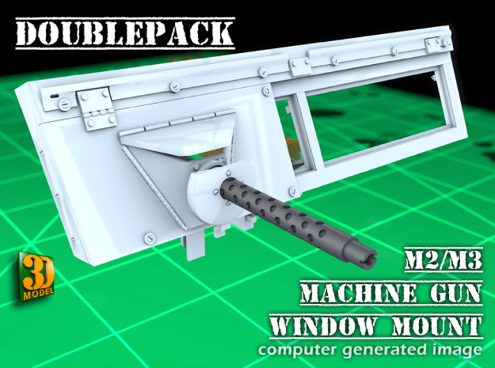 IDF 30cal MG window mount (1:35) (2x) 3d printed M2/M3 IDF MG window mount