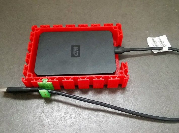 Profile HDD Case 3d printed