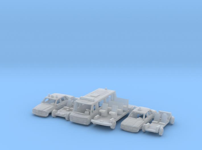 SET 3x Polizeifahrzeuge (N 1:160) 3d printed