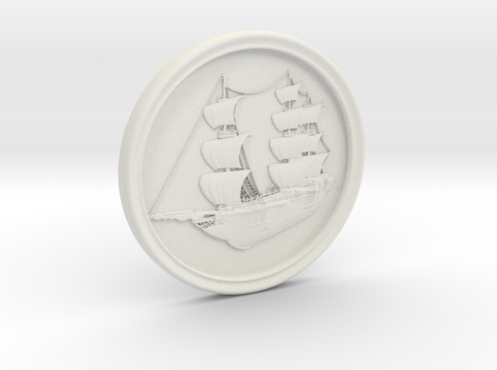Ship Basrelief 3d printed