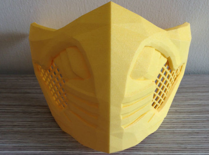Scorpion Mask MKX (wearable) 3d printed Scorpion's mask on Yellow Strong & Flexible