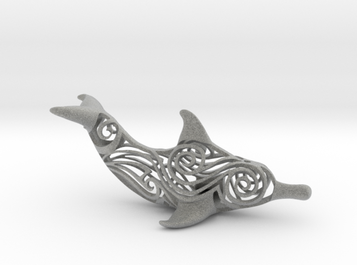 Tribal Dolphin  3d printed