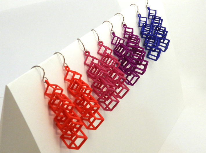 Cubes Earrings 3d printed