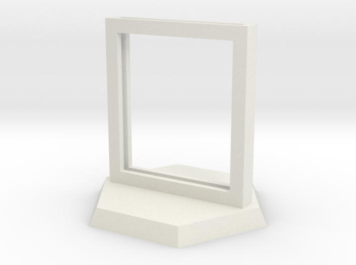 """Paper Insert Miniature Stand 1"""" (Hex Base) 3d printed"""