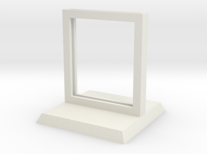 """Paper Insert Miniature Stand 1"""" (Square Base) 3d printed"""