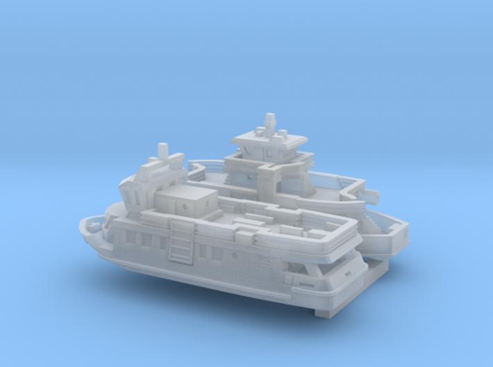 Shields Ferries (1:1200) 3d printed