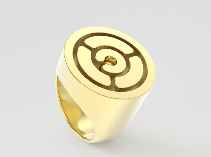 Maze Ring 3d printed
