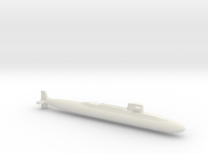 USS Lafayette SSBN, Full Hull, 1/1800 3d printed