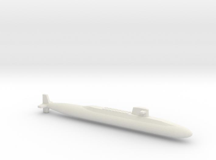 USS Lafayette SSBN, Full Hull, 1/2400 3d printed