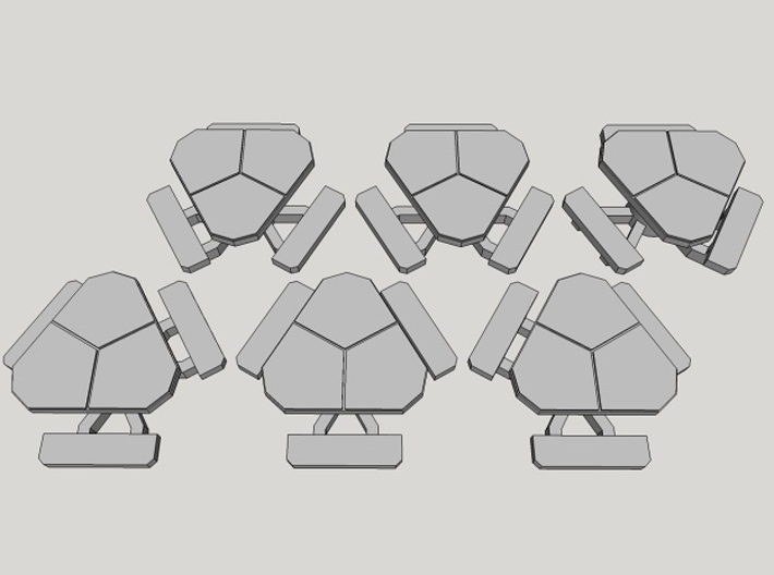 15mm Sci-Fi Bench Tables (6pcs) 3d printed
