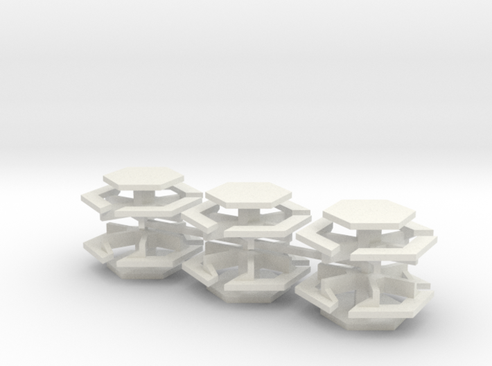 15mm Bench Tables (6pcs) 3d printed