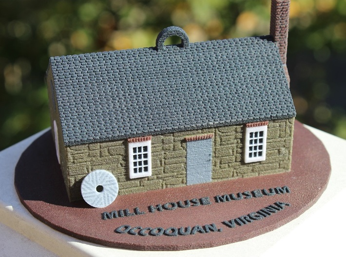 Occoquan's Mill House Museum Ornament 3d printed Mill House Museum Ornament