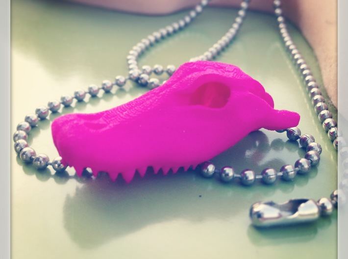 Alligator Skull Pendant - 3DKitbash.com 3d printed