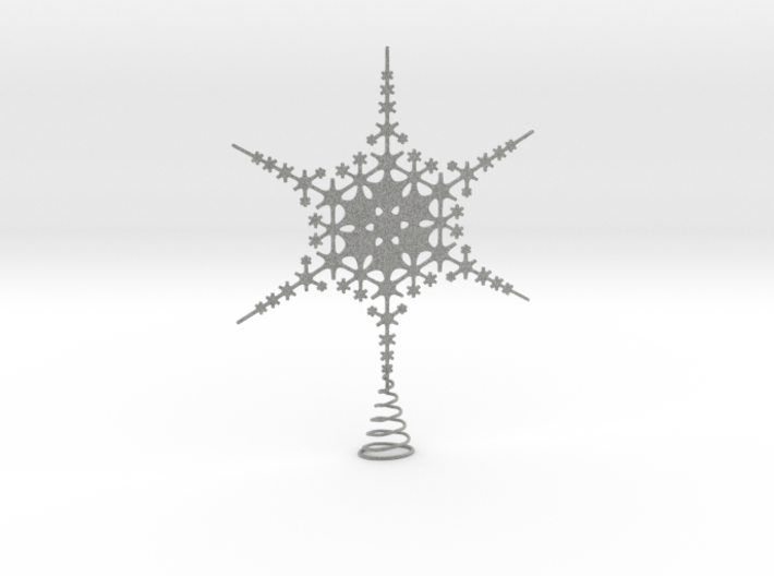 Sparkle Snow Star - Fractal Tree Top - MP1 - M1 3d printed