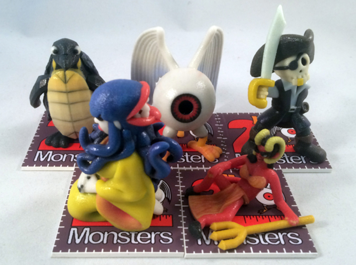 2 Inch Monsters: Batch 09 3d printed