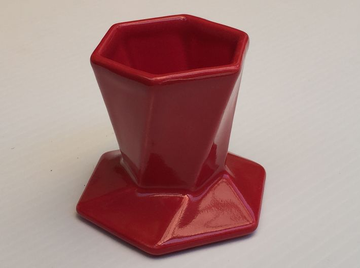 Hexagonal pour over coffee maker 3d printed