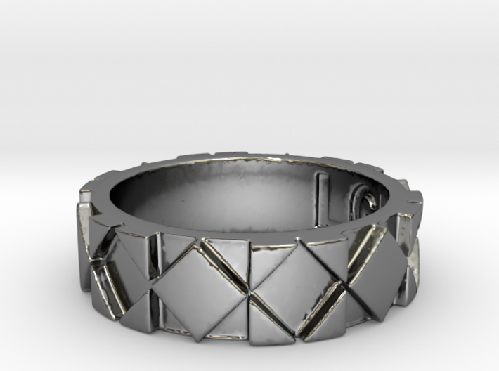 Futuristic Rhombus Ring Size 4 3d printed