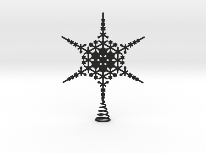 Sparkle Snow Star - Fractal Tree Top - MP3 - M 3d printed
