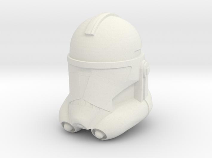 """Clone Trooper Helmet 6"""" 3d printed"""