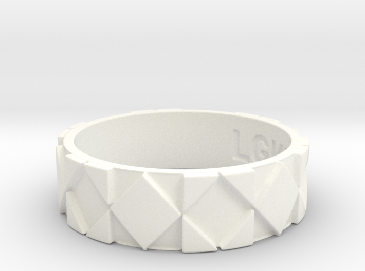 Futuristic Rhombus Ring Size 12 3d printed