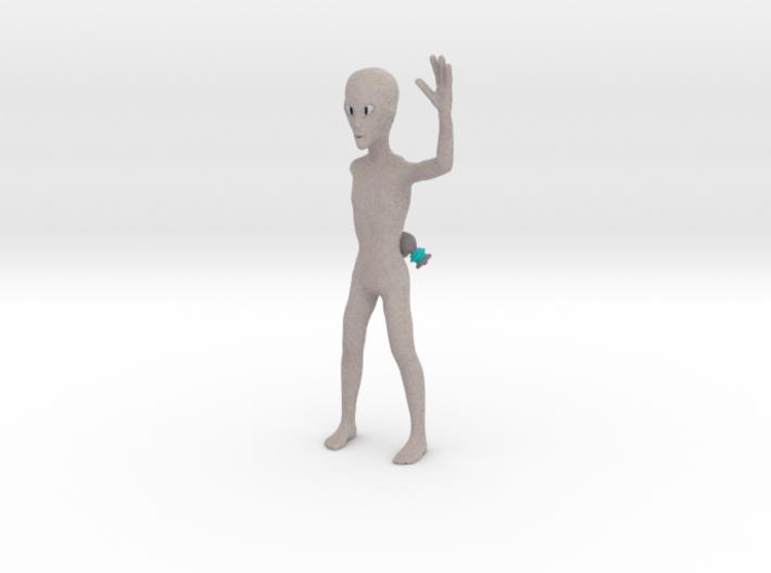 Friendly alien 3d printed