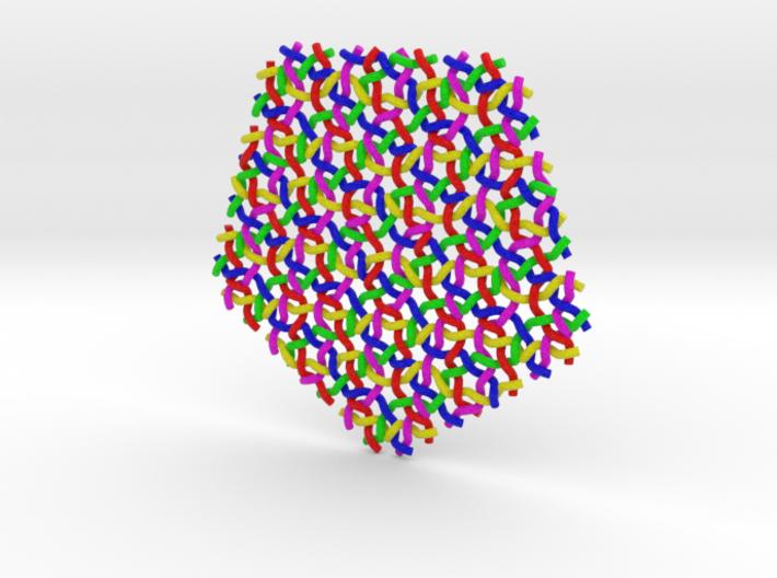 Penrose Weave Pentagon, large, borderless 3d printed