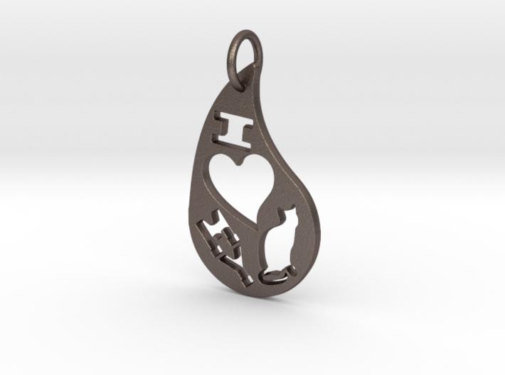 I Heart My Cat 3d printed