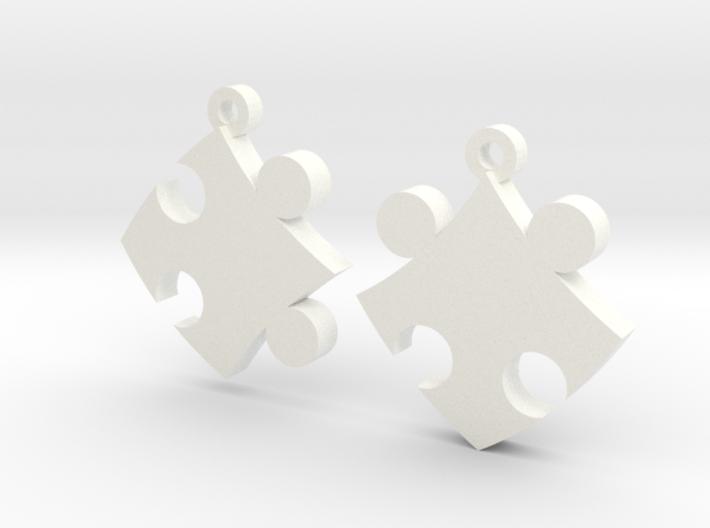 Puzzle Earrings 3d printed