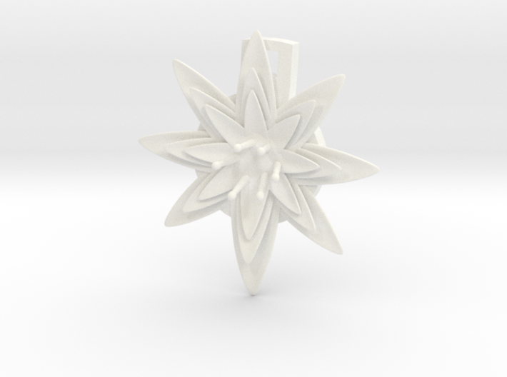 Flat Lily Pad Flower Pendant customizable 3d printed