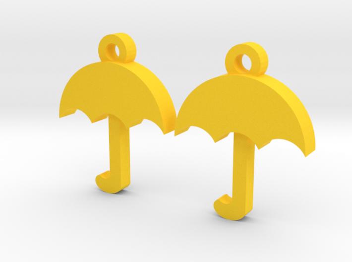 Umbrella Earrings 3d printed