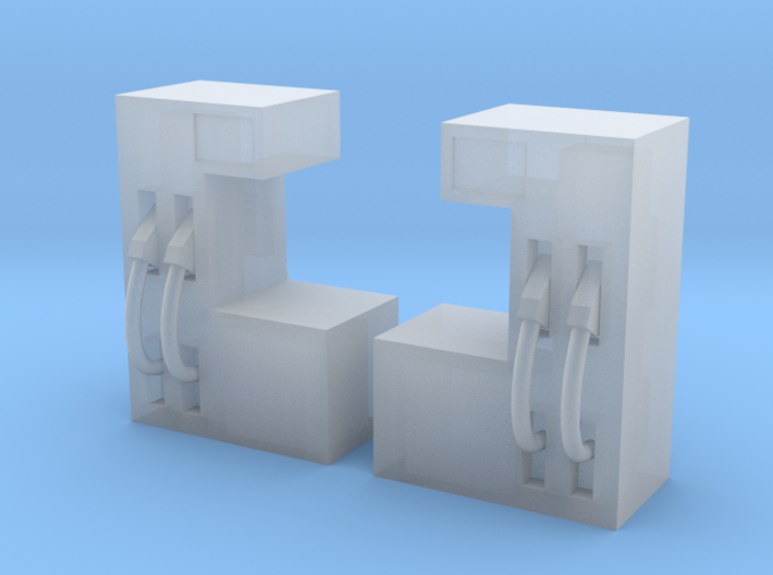 N Scale Gas Station Pumps 2pc 3d printed