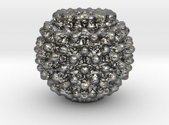 Mandelbulb Charm 3d printed