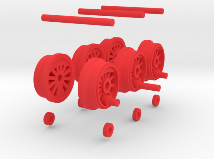 Steam Locomotive T3 Scale N Part 003 3d printed