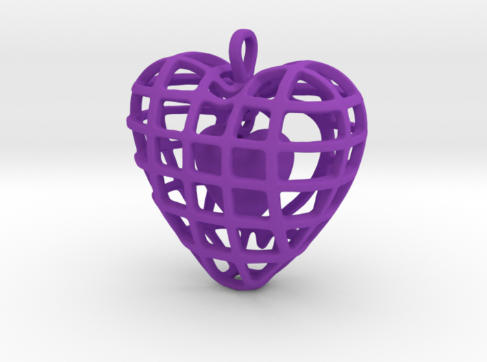 Touch My Heart Pendant 3d printed