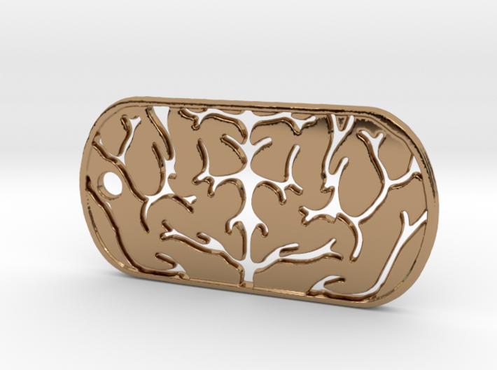 Premium Brain Matter Dog Tag 3d printed