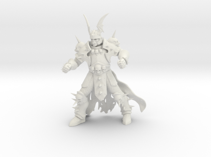 WhiteSkull 3d printed
