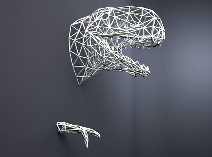 T-rex wall SMALL 3d printed