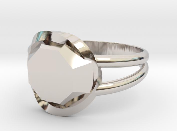 Size 10 Diamond Ring 3d printed