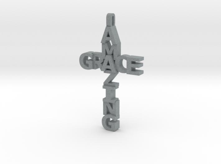 Amazing Grace Cross Pendant 3d printed