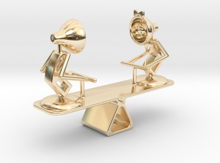 "Lala & Lele ""Playing Seesaw"" - DeskToys 3d printed"