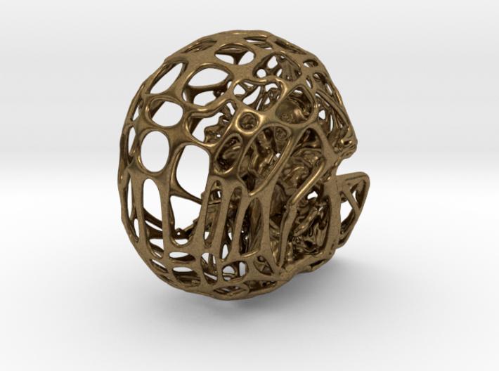 Human skull filagree pendant or earring 3d printed