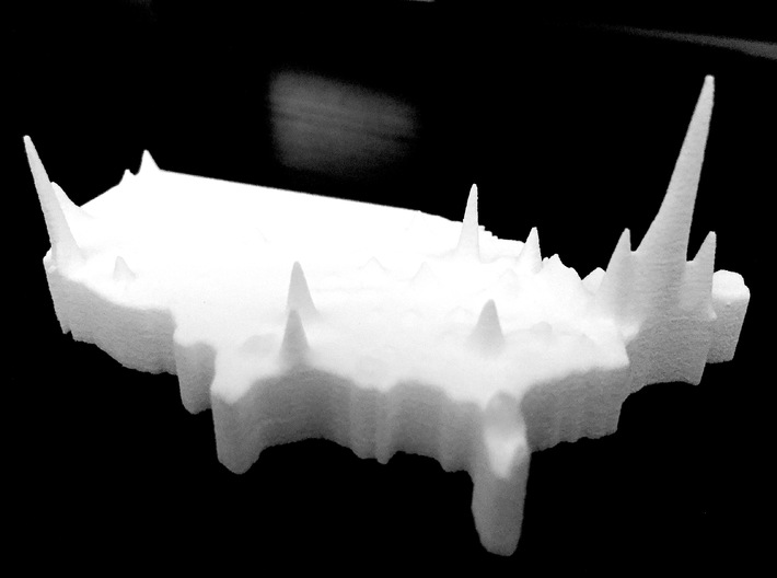 Map Of The Us Population Density Globalinterco - Us 3d map