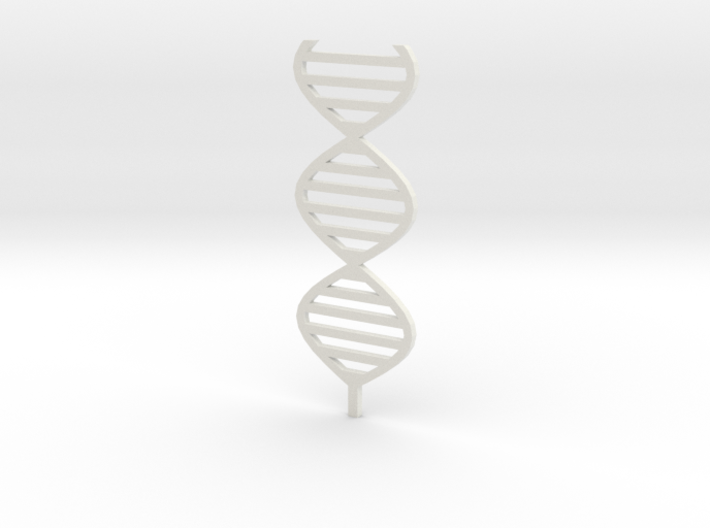 DNA sculpture 1:200 3d printed