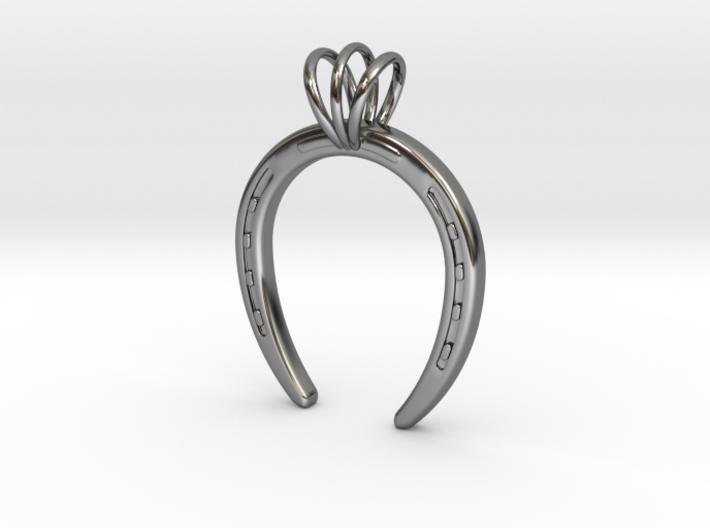 Horseshoe Necklace Pendant 3d printed