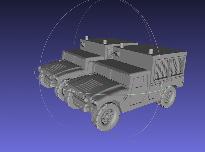 1/144 Humvee M1097A2 Shop Equipment Maintenance (D 3d printed