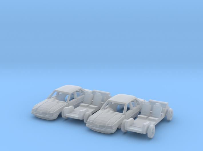 SET 2x Vauxhall Cavalier (N 1:160) 3d printed