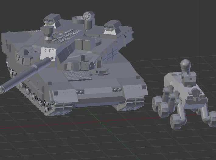 "1/200 South Korean K2 ""Black Panther"" Tank 3d printed Click to edit"