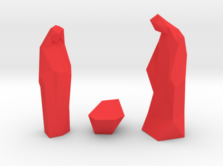 Contemporary Christmas statues 3d printed